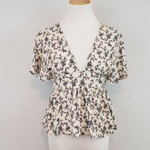 American Eagle Outfitters Open Back Floral Top